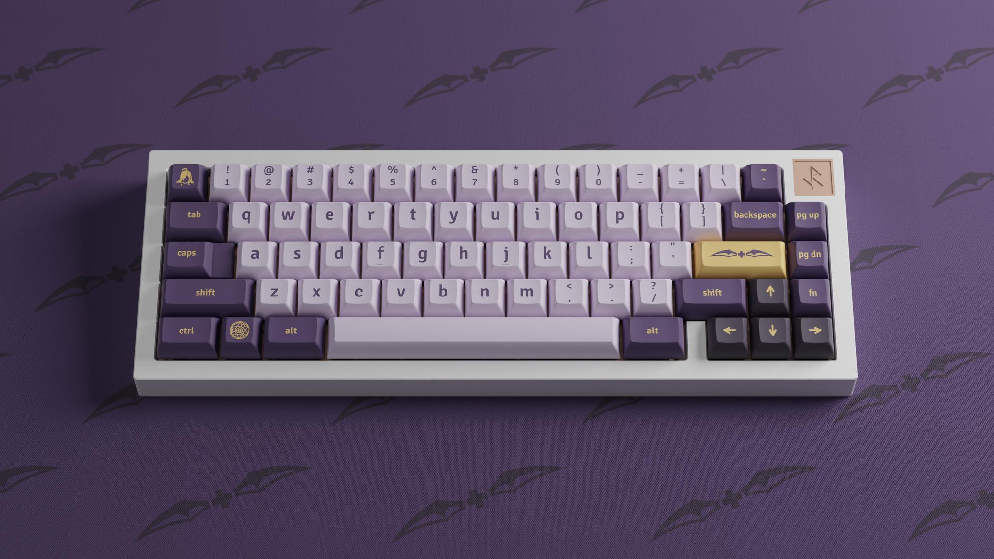 A very elegant render of the KAT Lich keycap set
